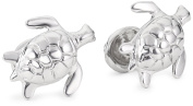 """ROTENIER """"Novelty"""" Sterling Silver Turtle and Turtle Shell Cufflinks"""