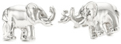 """ROTENIER """"Novelty"""" Sterling Silver Elephant and Mouse Cufflinks"""