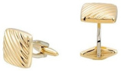 New Men's 14k Yellow Gold Square Cuff Links