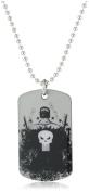 Marvel Comics Punisher Dog Tag Men's Silver Pendant Necklace