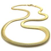 "KONOV Jewellery Stainless Steel Men's Necklace Snake Chain - Gold 6mm 21.5"""