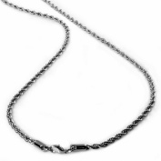 """Stainless Steel Men's Rope Chain Necklace 4MM 24"""""""