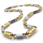 KONOV Jewellery Stainless Steel Mens Necklace Link Chain - Colour Gold Silver