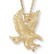 Gold Plated Men's Eagle Pendant