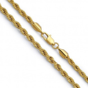 4mm Stainless Steel Gold Plated Rope Chain Necklace-24 Inches