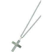 Stainless Steel Cross Necklace Mens Jewellery 61cm New |A