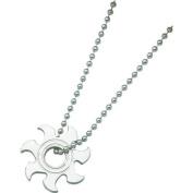Stainless Steel Sun Burst Mens Necklace Jewellery 55.9cm