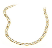 """26"""" Mariner Italian Chain Two-Toned 14K Gold over .925 Sterling Silver / 4 mm"""