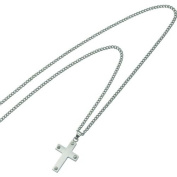 Stainless Steel Cross Mens Necklace Jewellery 55.9cm New |B