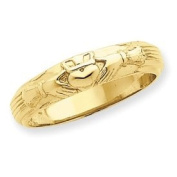 14k Mens Claddagh Ring - Size 10 - JewelryWeb
