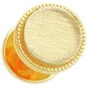Gold Plated Round Shirt Stud