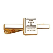 LDS Mens Gold Book of Mormon Tie Clip / Tie Bar for Boys - Missionar Gift, LDS Tie Clip, LDS Tie Bar
