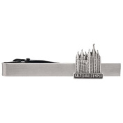 LDS Salt Lake City Utah Temple Silver Steel Tie Bar - Tie Clip - Priesthood Gift, LDS Missionary, Tie Clip