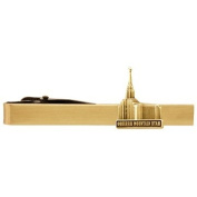 LDS Oquirrh Mountain Utah Temple Gold Steel Tie Bar - Tie Clip - Priesthood Gift, LDS Missionary, Tie Clip
