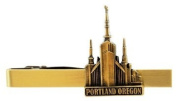 LDS Portland Oregon Temple Gold Steel Tie Bar - Tie Clip - Priesthood Gift, LDS Missionary, Tie Clip