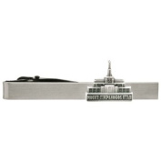LDS Mount Timpanogos Utah Temple Silver Steel Tie Bar - Tie Clip - Priesthood Gift, LDS Missionary, Tie Clip