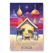 """Abbey Press """"Animals at Manger"""" Christmas Cards - Greetings Paper Gift Wrap 15139T-ABBEY"""
