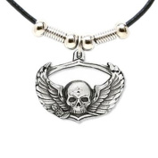 Earth Spirit Necklace - Skull & Wings - Earth Spirit Necklace