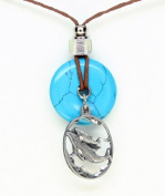Earth Reflections Diamond Cut Pendant Necklace - Whale & Baby