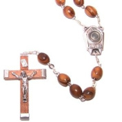 Olive Wood Rosary with Holy Water from the Jordan River - With Certificate of Authenticity