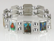 4030457 Christian Saints Icons Holy Religious Stretch Bracelet