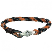 Forgiven Jewellery - Leather Braided Christian Bracelet with Cross Bead Connector