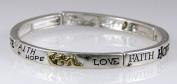 4030601 Christian Stretch Bracelet FHL Faith Hope Love 1st Corinthians