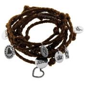 "Forgiven Jewellery - ""Multi-wrap"" Braided Christian Charm Bracelet"