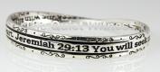 4030652 Jeremiah 29 Message Christian Bangle Bracelet Religious Cross