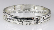 4030662 Christian Fruits of the Spirit Stretch Bracelet Love Joy Peace Cross Religious