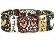 4030210 Christian Religious Scripture Faith Hope Love Bible Stretch Bracelet
