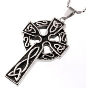 High Celtic Knots Cross Pendant, Finest Quality Stainless Steel Jewellery