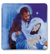 O Come Let Us Adore Him Infant Christ Holy Family Christmas Nativity Scene Religious Lapel Pin