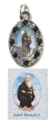 Womens 1.9cm St Benedict Devotional Protection Medal Wallet Pocket Prayer Folder