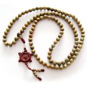 8mm 108 Green Sandalwood Beads Tibetan Buddhist Prayer Meditation Mala Necklace