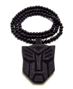 Large Wooden Transformer Black Good Quality Wood Pendant & Chain