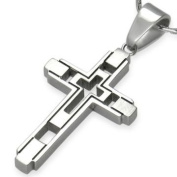 Modern Cross Stainless Steel Pendant by Cuff-Daddy