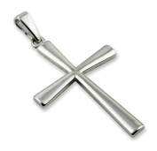 5.1cm Large Plain Sterling Silver Cross Pendant
