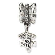 Sterling Silver Nurse Symbol Dangle Bead