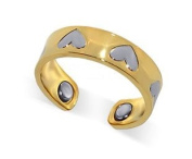 New Two Tone Heart Magnetic Band Fits Ring Size 7 & up