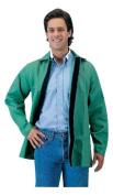 John Tillman & Co 30'' Green 270ml Westex Proban FR7A Cotton Flame Retardant Jacket With Velco Closure