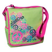 Three Cheers For Girls! Splatter Peace Messenger Bag