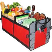 Highland 2 Pocket Trunk Organiser, Red and Grey