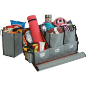 Highland Interior Organisers Travel Solutions Trunk Organiser with Three Compartment and Reusable, Lined Totes 1950000