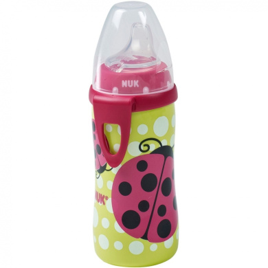 NUK - Silicone Spout 300ml Active Cup, Ladybug