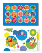 Neat Solutions Winnie the Pooh Table Topper Disposable Stick-On Placemats, 50-Count