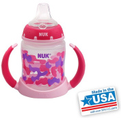 NUK BPA-Free 150ml Girl Learner Cups, Silicone Spout, Camo, Set of 2