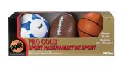 POOF-Slinky POOF Pro Gold Foam 3-Ball Sport Pack