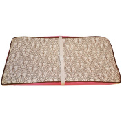 Bacati Damask Changing Pad Cover, Pink/Chocolate