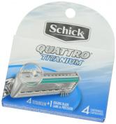 Schick Quattro Titanium Razor Refill, 4ct